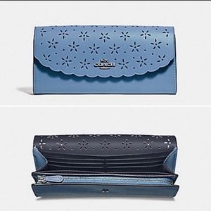 NWT Coach Floral Perforated Wallet